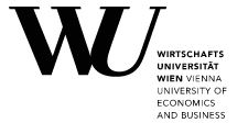 Lehrveranstaltungen an der WU Wien